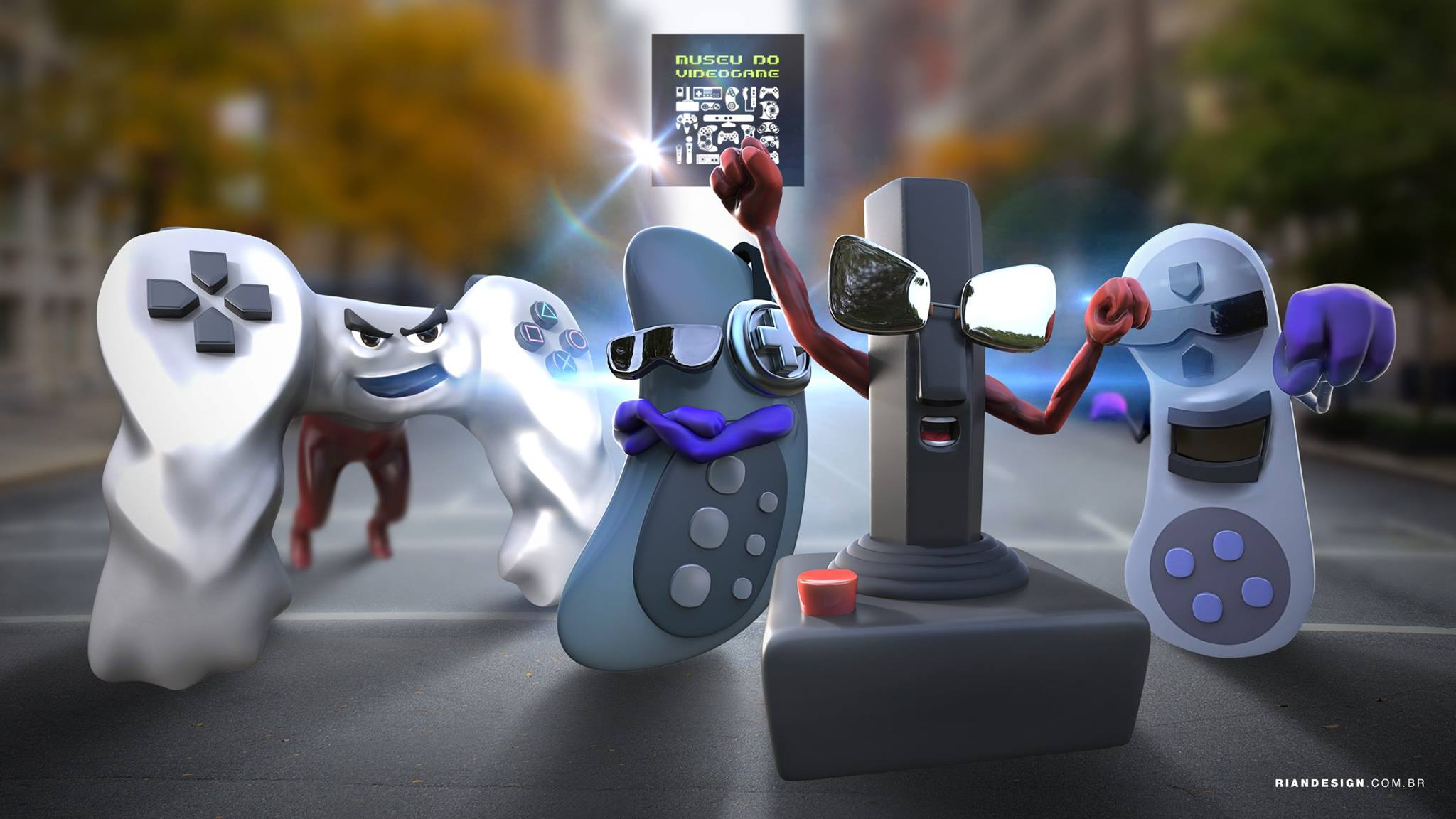 museu videogame itinerante mascote