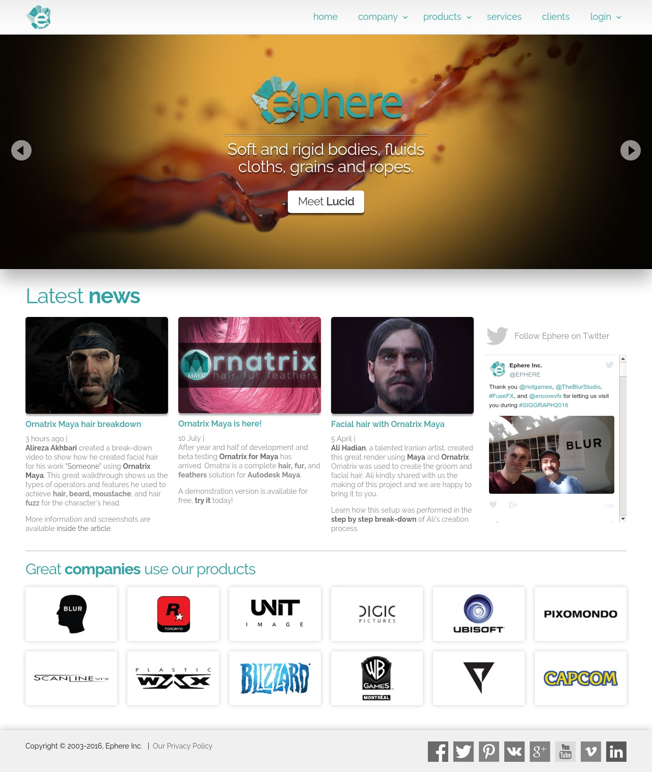 ephere inc ornatrix lucid new website