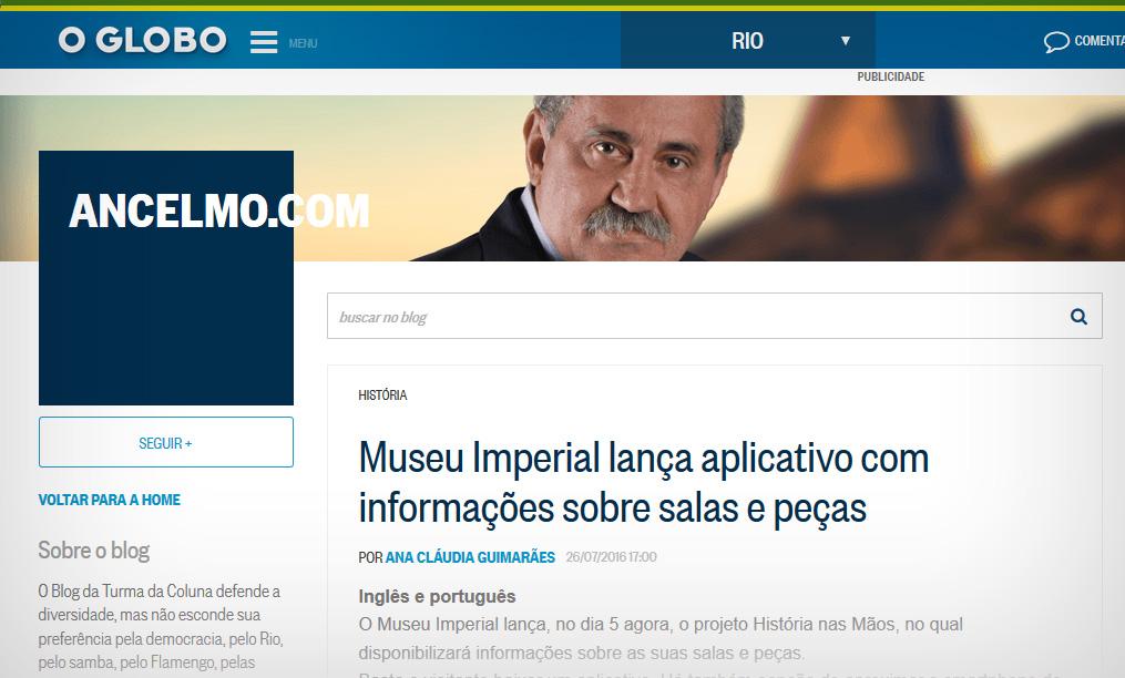 ancelmo gois museu imperial aplicativo historia em maos qr code
