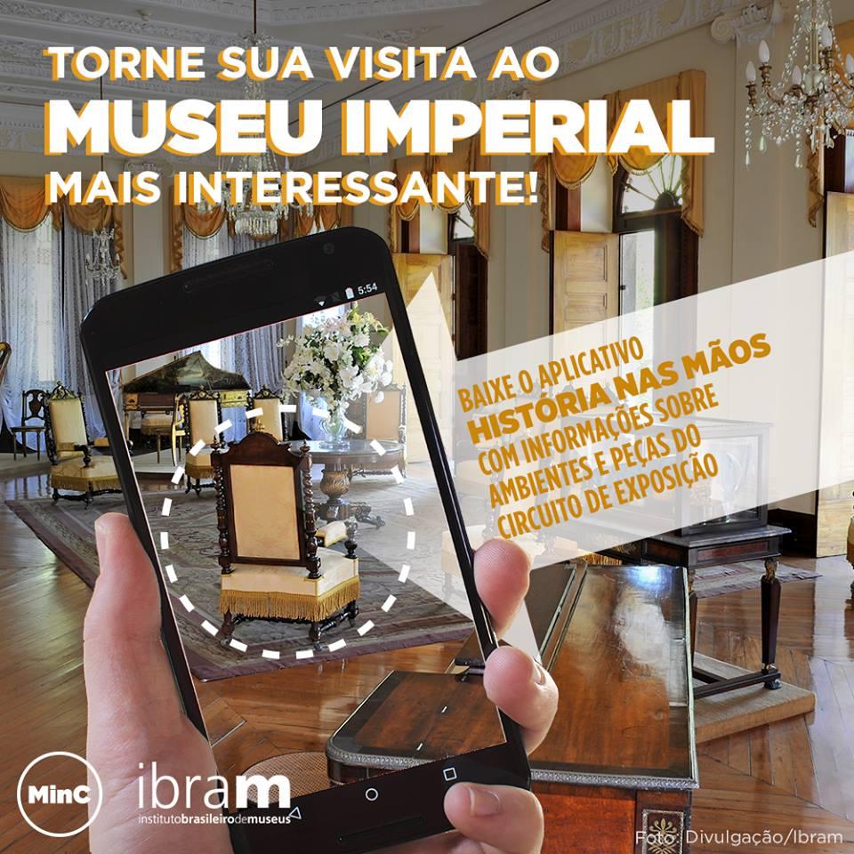 museu imperial aplicativo qr code ibram petropolis