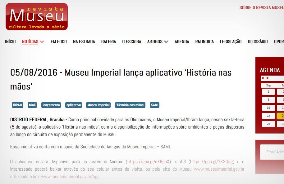 revista museu museu imperial aplicativo historia em maos qr code