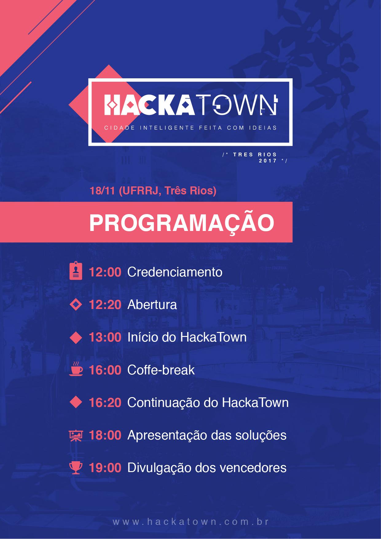 Programacao do HackaTown Três Rios - Hackathon