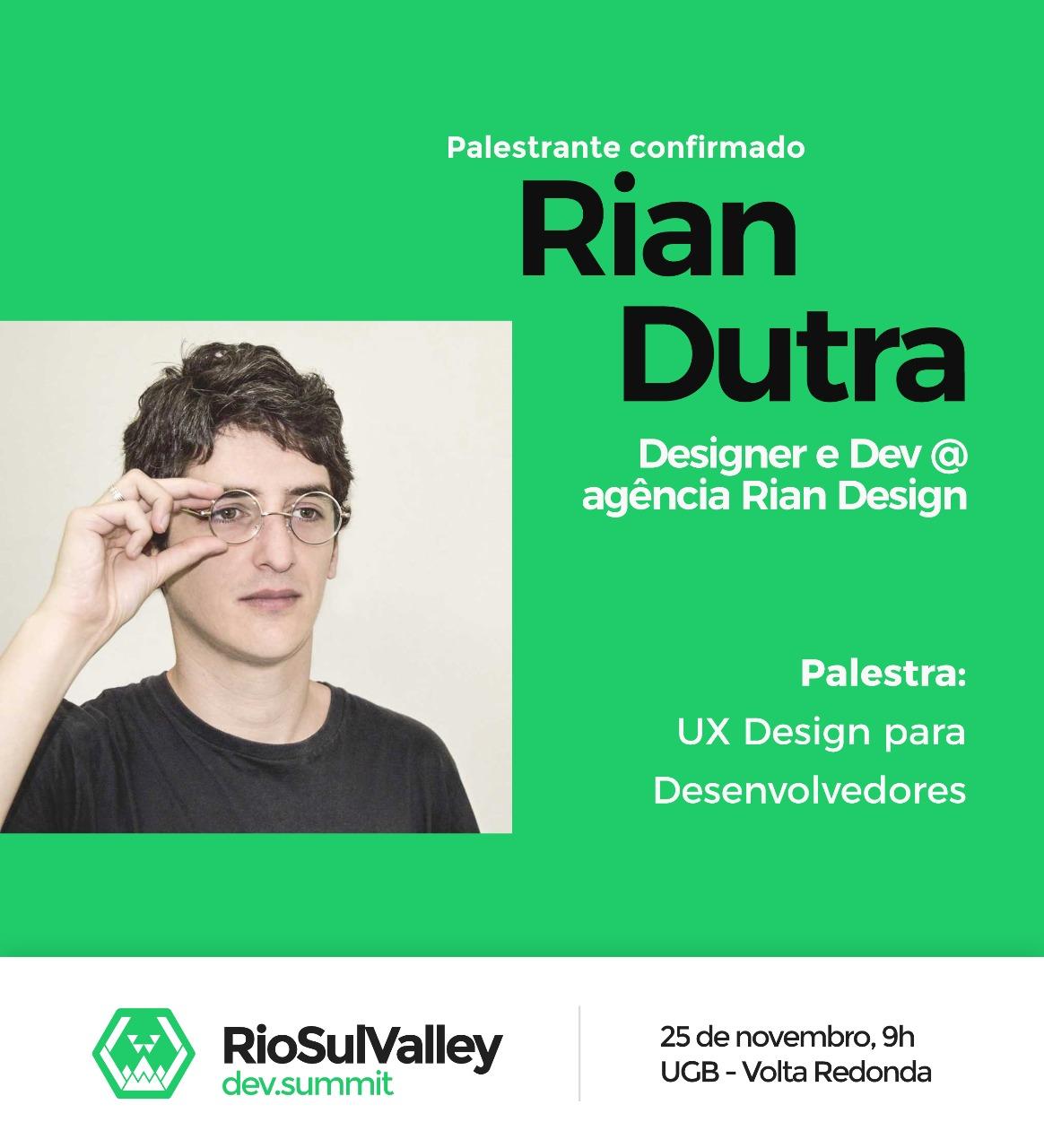 Rio Sul Valley Dev Summit 2017 - Rian Dutra
