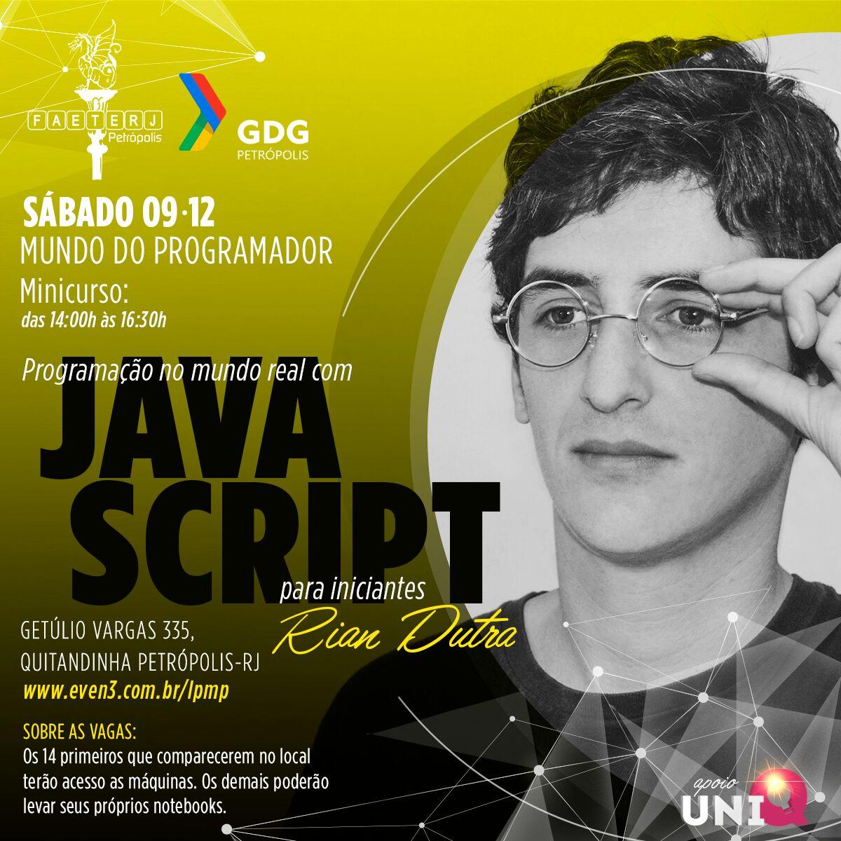 Curso gratuito de programação para leigos em Javascript